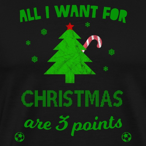 Weihnachten Fußball 3 Punkte Geschenk lustig - Männer Premium T-Shirt