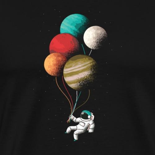 Astronaut balloons - Männer Premium T-Shirt