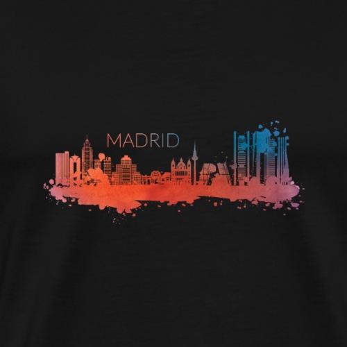 MADRID SKYLINE WATERCOLOR - Männer Premium T-Shirt