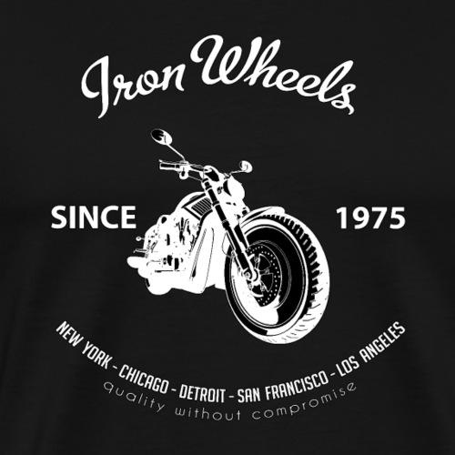 Iron Wheels Classic American Motorcycle - Men's Premium T-Shirt
