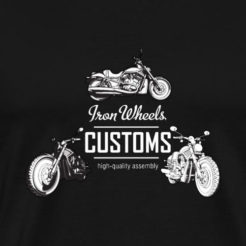 Iron Wheels Custom American Motorcycle - Men's Premium T-Shirt