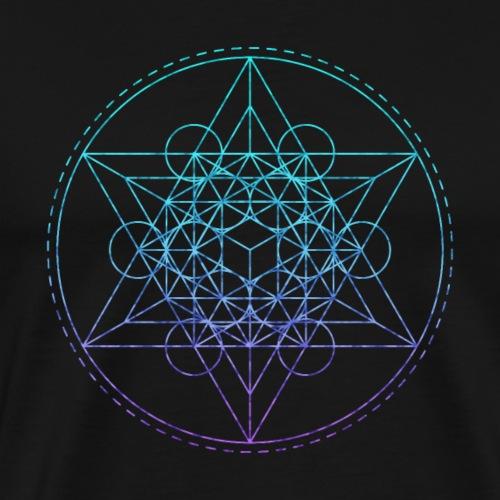 Sacred Geometry Teal Metatron - Men's Premium T-Shirt