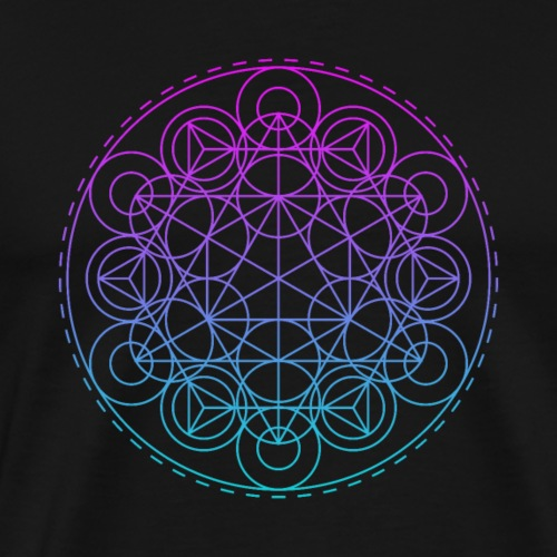 Sacred Geometry TriHexCircles - Men's Premium T-Shirt