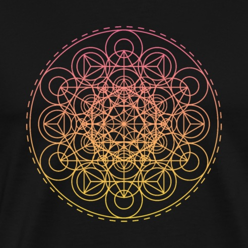 Sacred Geometry Intricate TriHexCircles - Men's Premium T-Shirt