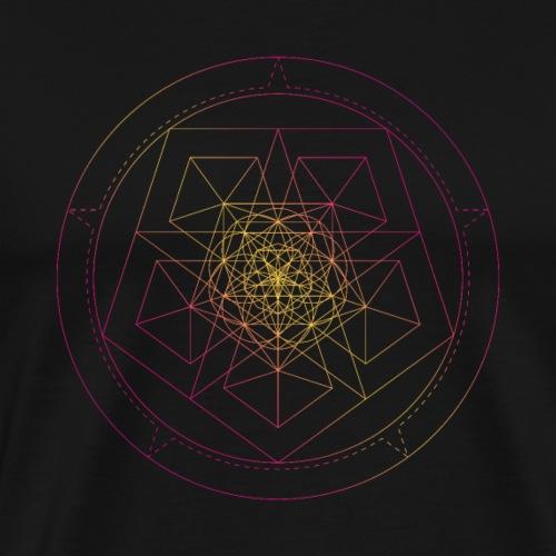 Sacred Geometry Star Pentagon - Men's Premium T-Shirt