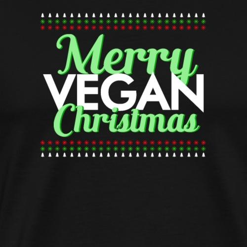 Merry vegan christmas - Camiseta premium hombre