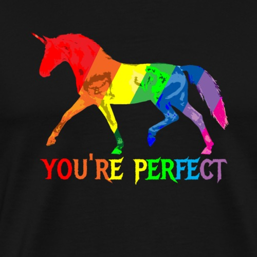 Regenbogen Einhorn - You´re perfect - Männer Premium T-Shirt