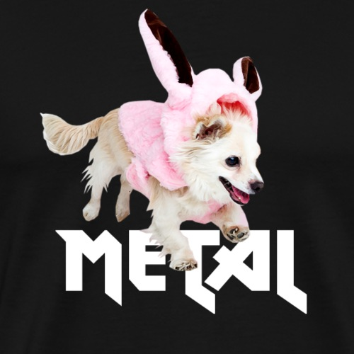 Lustiges Metal Chihuahua Hasen Design - Männer Premium T-Shirt