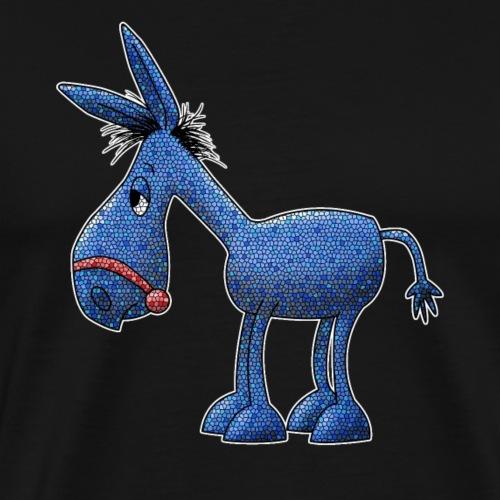 Blauer Esel für dunkle Stoffe - Männer Premium T-Shirt