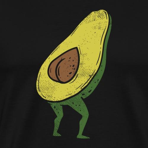 Lustige Avocado Po Frucht - Vegan Guacamole - Männer Premium T-Shirt