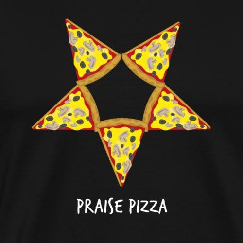 Praise Pizza Pentagramm lustiges Metal Design - Männer Premium T-Shirt