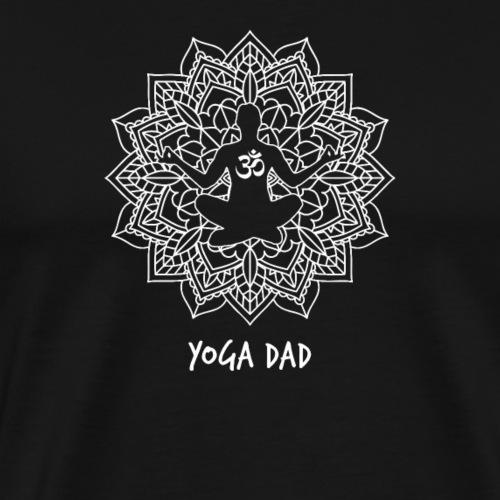 Yoga Dad lustiges Mandala Design für Väter - Männer Premium T-Shirt