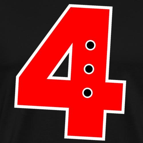 Nummer 4 Rot - Männer Premium T-Shirt