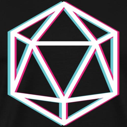 3D D20 weiß - Men's Premium T-Shirt