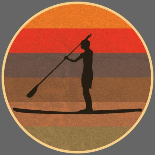 Stand up paddling (SUP) im Sonnenuntergang - Männer Premium T-Shirt