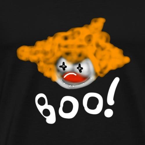 Creepy Scary clown Boo, original design by Jimkins - Men's Premium T-Shirt