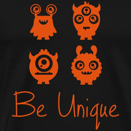 BE UNIQUE Monster | The colorful zebra - Men's Premium T-Shirt