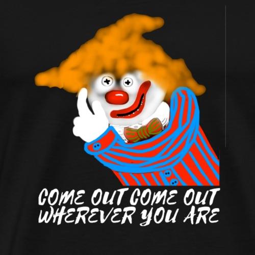 Scary halloween clown design. - Men's Premium T-Shirt