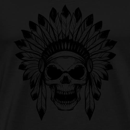 Geschenk - INDIANER TOTENKOPF - Männer Premium T-Shirt