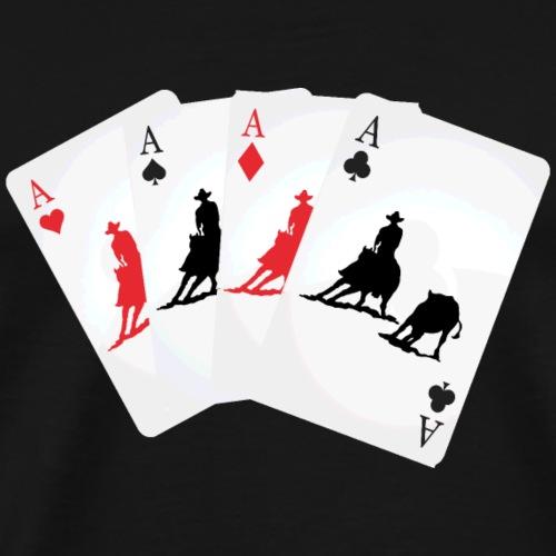 Kartenspiel Cutting, Cutter, Cuttingreiter - Männer Premium T-Shirt