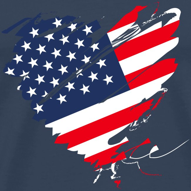 USA Amerika Sterne und Streifen Herz Fahne Flagge