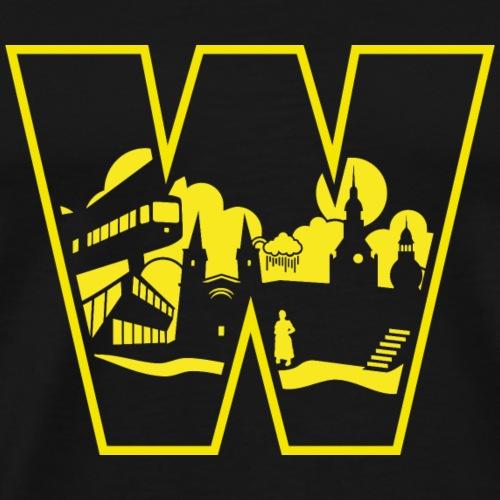 Wuppertal Wahrzeichen im W | Wuppertal T-Shirts - Männer Premium T-Shirt