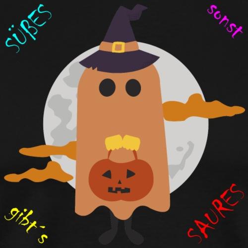 Halloween Geist der um Süßes oder Saures bettelt - Männer Premium T-Shirt