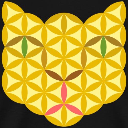 The Cat Of Life - Sacred Animals, B04, Yellow. - Men's Premium T-Shirt