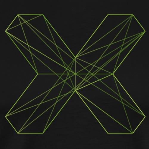 X outline gruen korr - Männer Premium T-Shirt