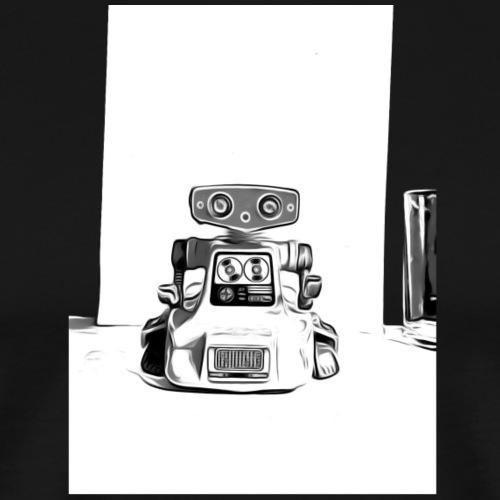 Retro Science Fiction Roboter T-Shirt Geschenkidee - Männer Premium T-Shirt