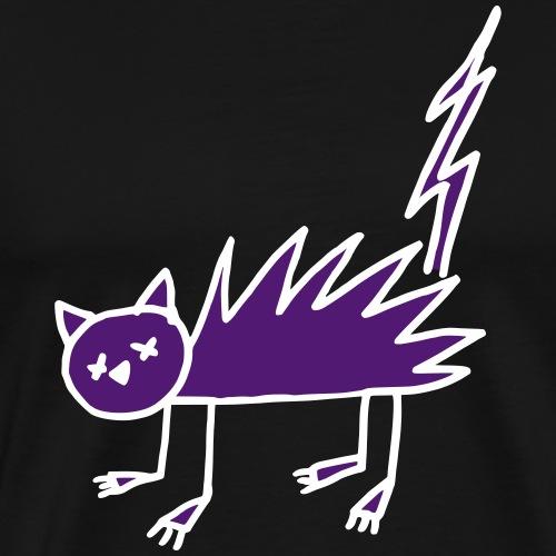 Cat Halloween Zombie Undead flash Bicolor - T-shirt Premium Homme