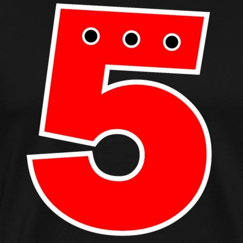 Nummer 5 Rot - Männer Premium T-Shirt