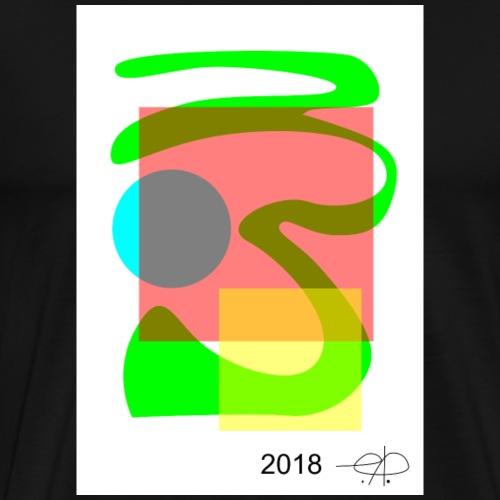 Abstract20180418 jpg - Herre premium T-shirt