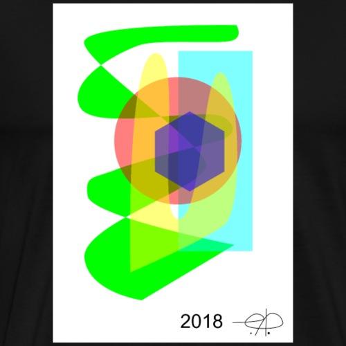 Abstract20180419 2 jpg - Herre premium T-shirt