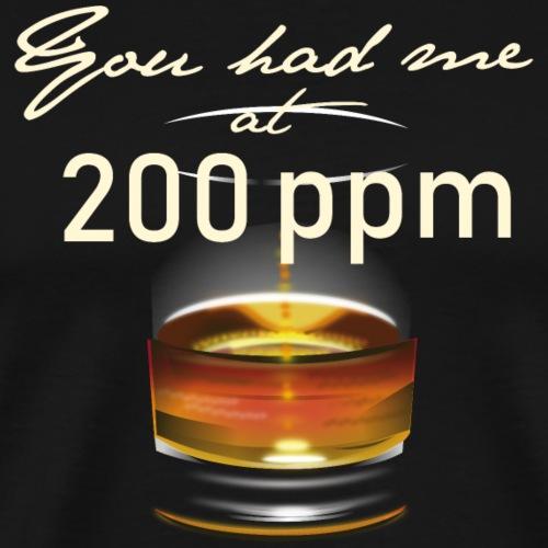 Whisky T-Shirt Design 200 ppm - Männer Premium T-Shirt