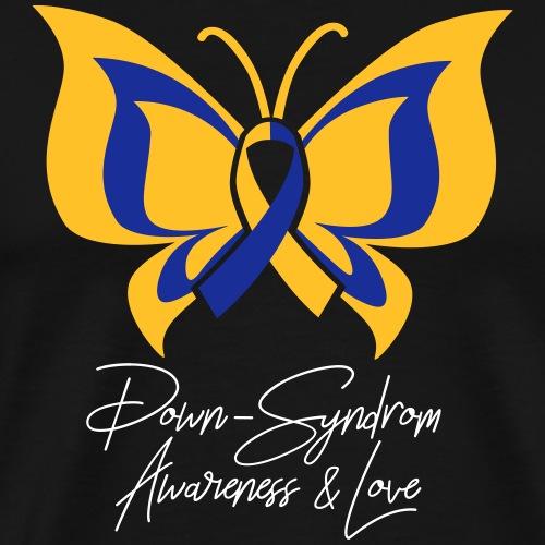 DOWN-SYNDROM Love & Awareness | Das bunte Zebra - Men's Premium T-Shirt