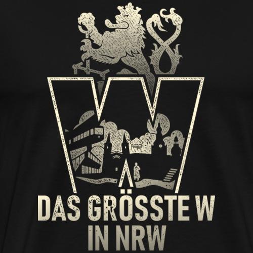 Wuppertal - das größte W in NRW T-Shirt - Männer Premium T-Shirt