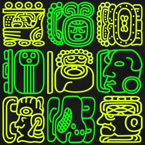 Mayan Bolontiku - Herre premium T-shirt