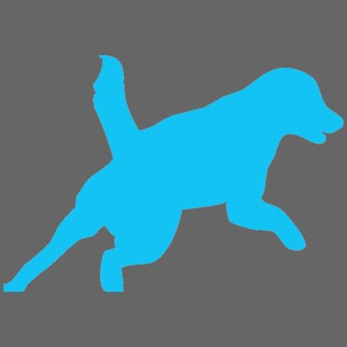 Apportering till vardag och fest blå hund - Premium-T-shirt herr