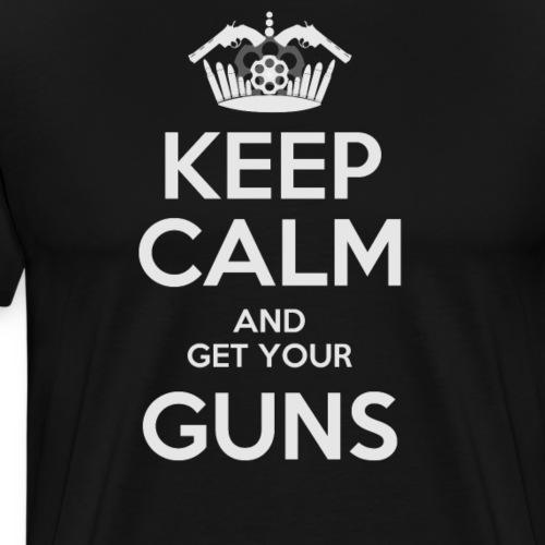 Keep Calm and get your Guns, IPSC sport - Camiseta premium hombre