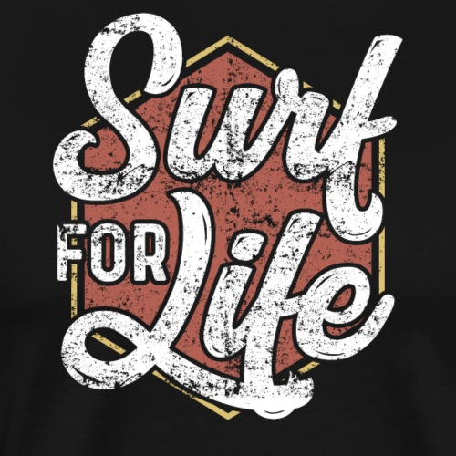 Surf For Life Vintage/Retro Style - Männer Premium T-Shirt