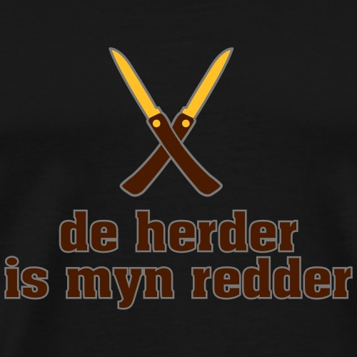 De herder is myn redder - Mannen Premium T-shirt