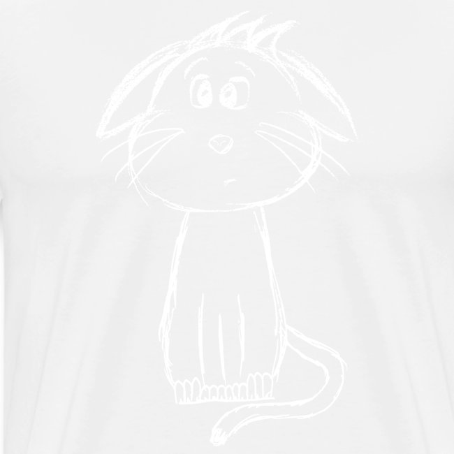 Cat kitten white scribblesirii