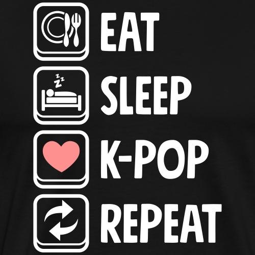 Cute Kawaii Eat Sleep Kpop Repeat - Männer Premium T-Shirt