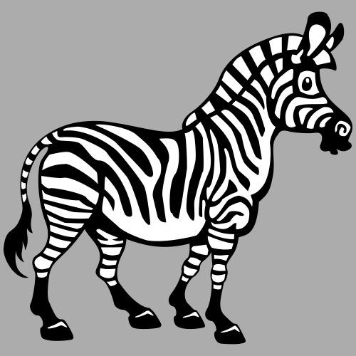 Dickes, süßes Cartoon Zebra - für alle Flächen - Männer Premium T-Shirt