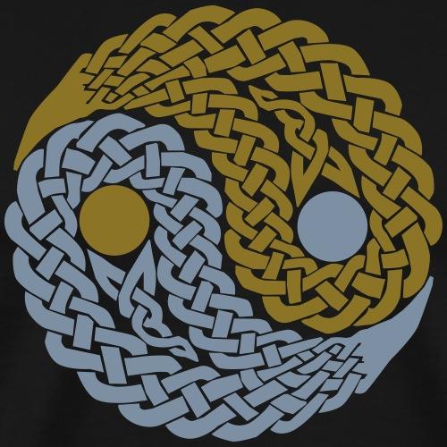 Yin und Yang Keltische Knoten Geschenk Yoga Zen - Men's Premium T-Shirt