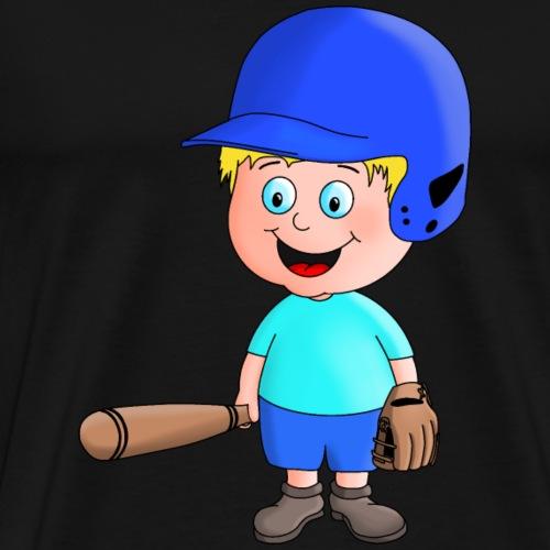 Junger Baseball-Spieler - Männer Premium T-Shirt