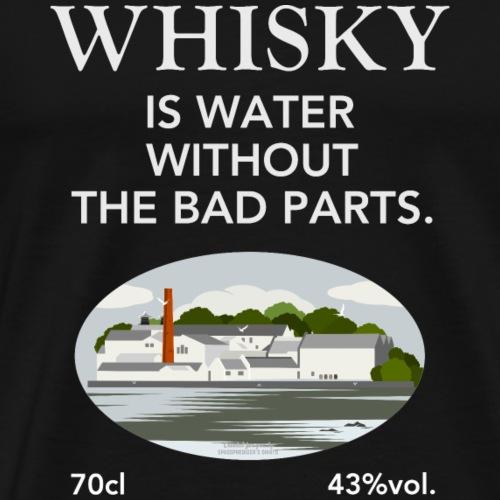 Whisky Is Water lustiger Spruch und Brennerei - Männer Premium T-Shirt