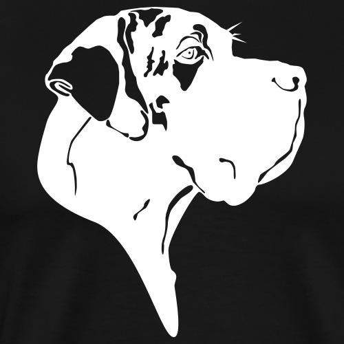 Gefleckter Doggenkopf komplex - Männer Premium T-Shirt