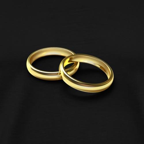 Ringe Gold - Männer Premium T-Shirt